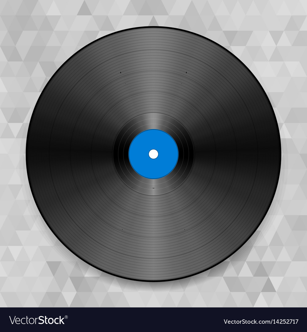 Of a vinyl record on the abstract vector image