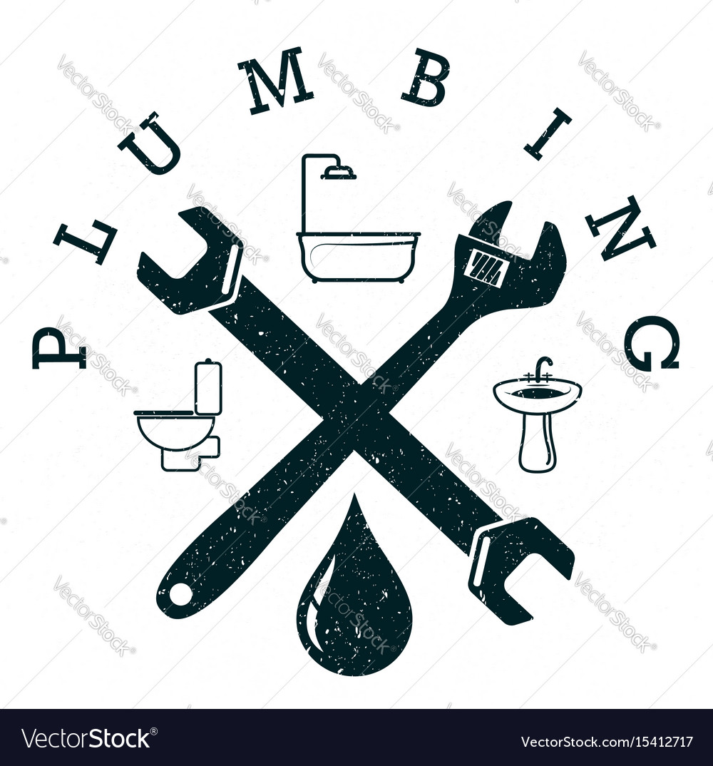 Plumbing service design vector image