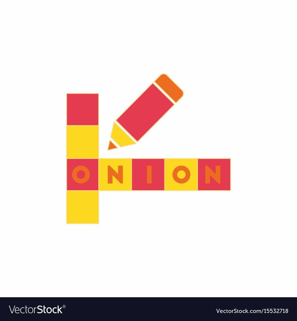 Crossword education game for children