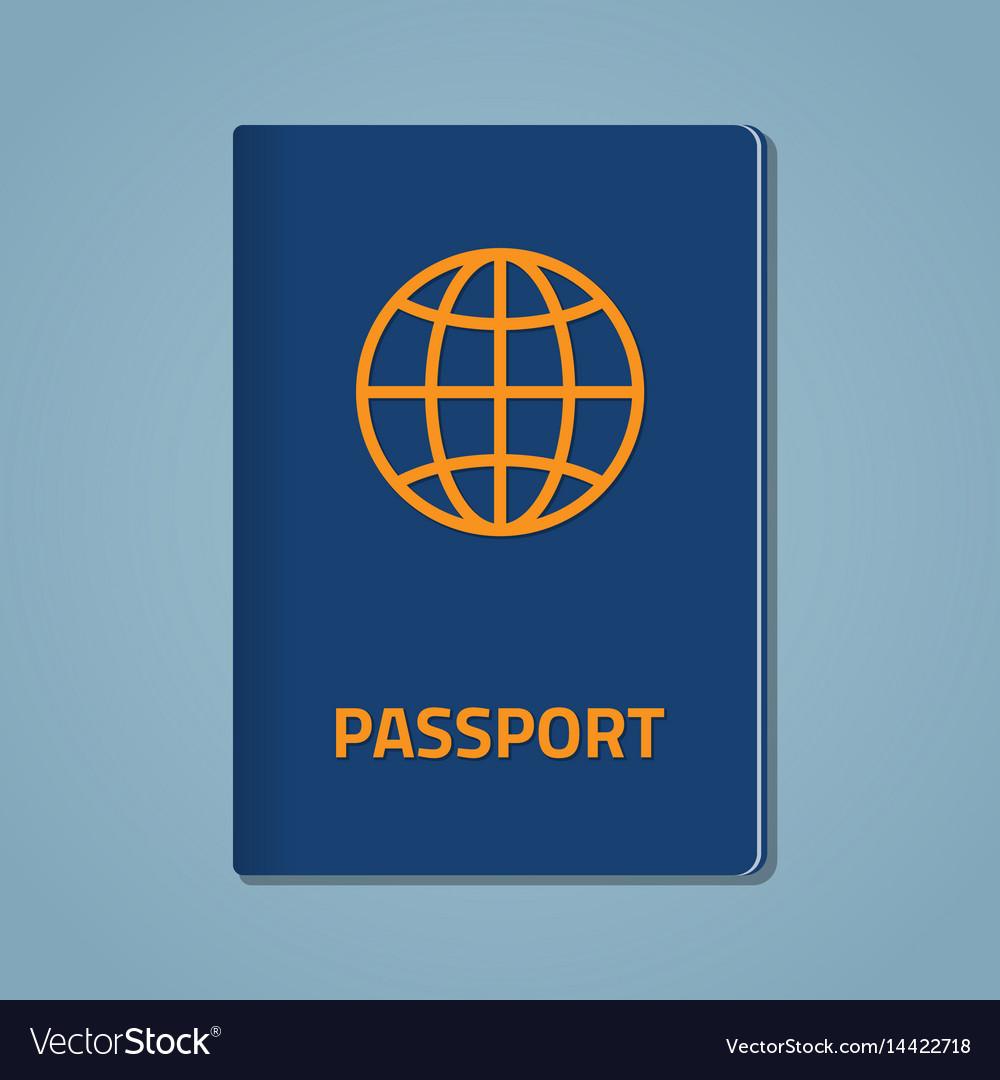 Passport closed flat vector image
