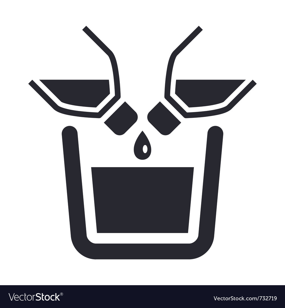 Mixing liquid icon vector image