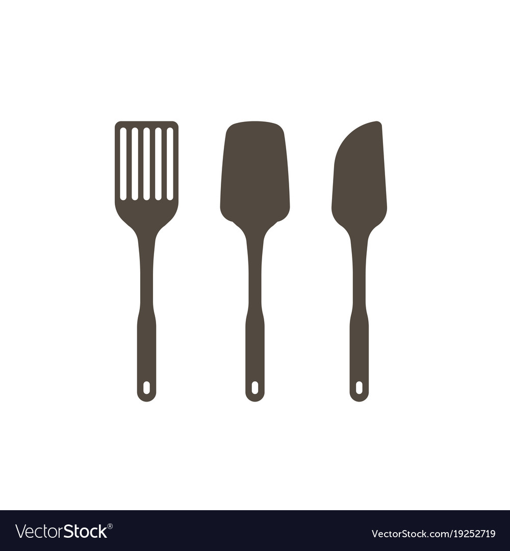 Set of kitchen utensils in silhouette design icon Vector Image