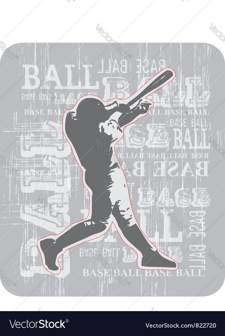 BASE BALL bR Vector Image