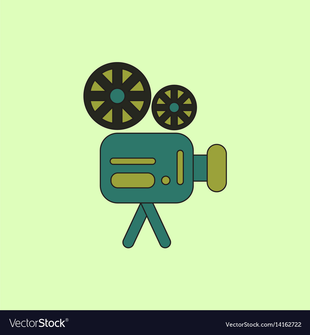 Old movie video camera in flat