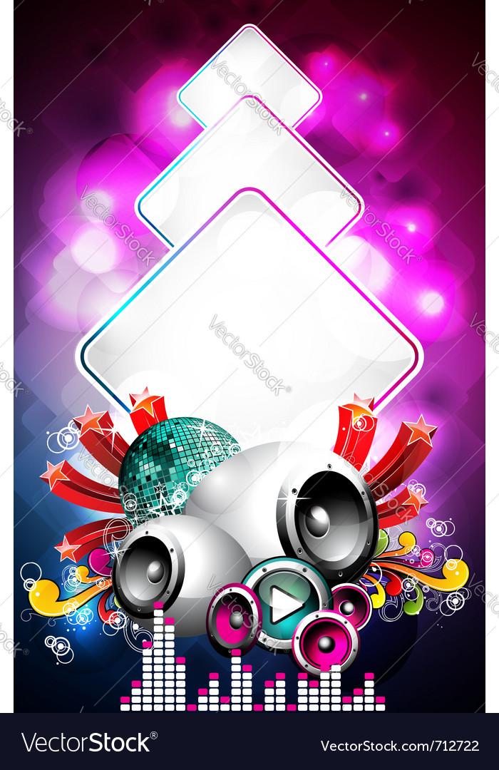 Speaker and design elements vector image