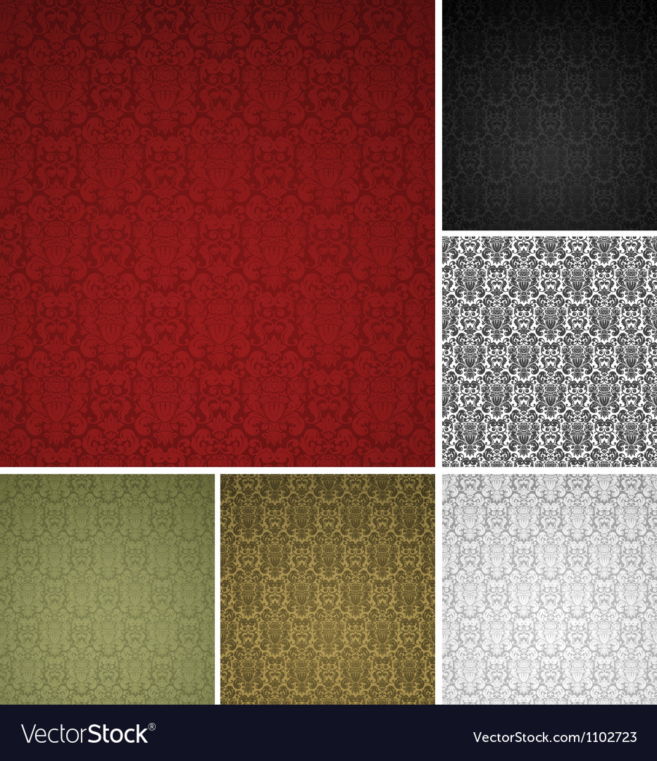 Seamless pattern six colors vector image