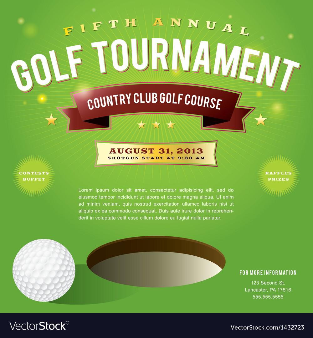 Golf tournament invitation design royalty free vector image golf tournament invitation design vector image stopboris Gallery