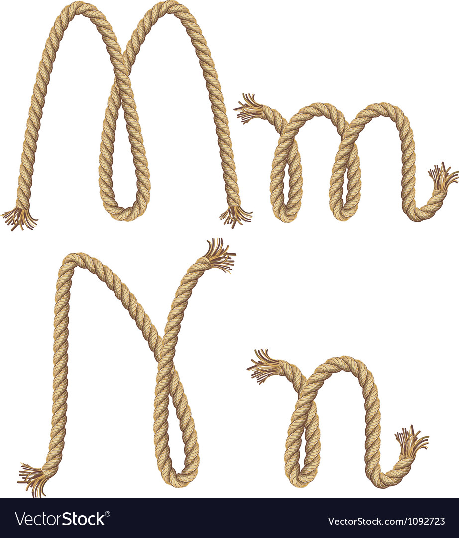 Rope alphabet vector image