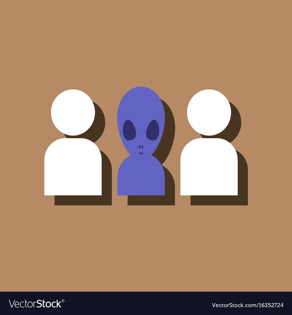 Black Alien icon on white