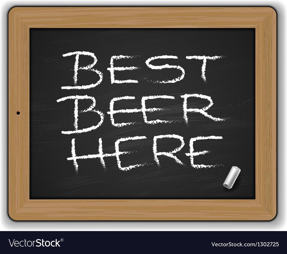 Menu - Beers on the blackboard vector image