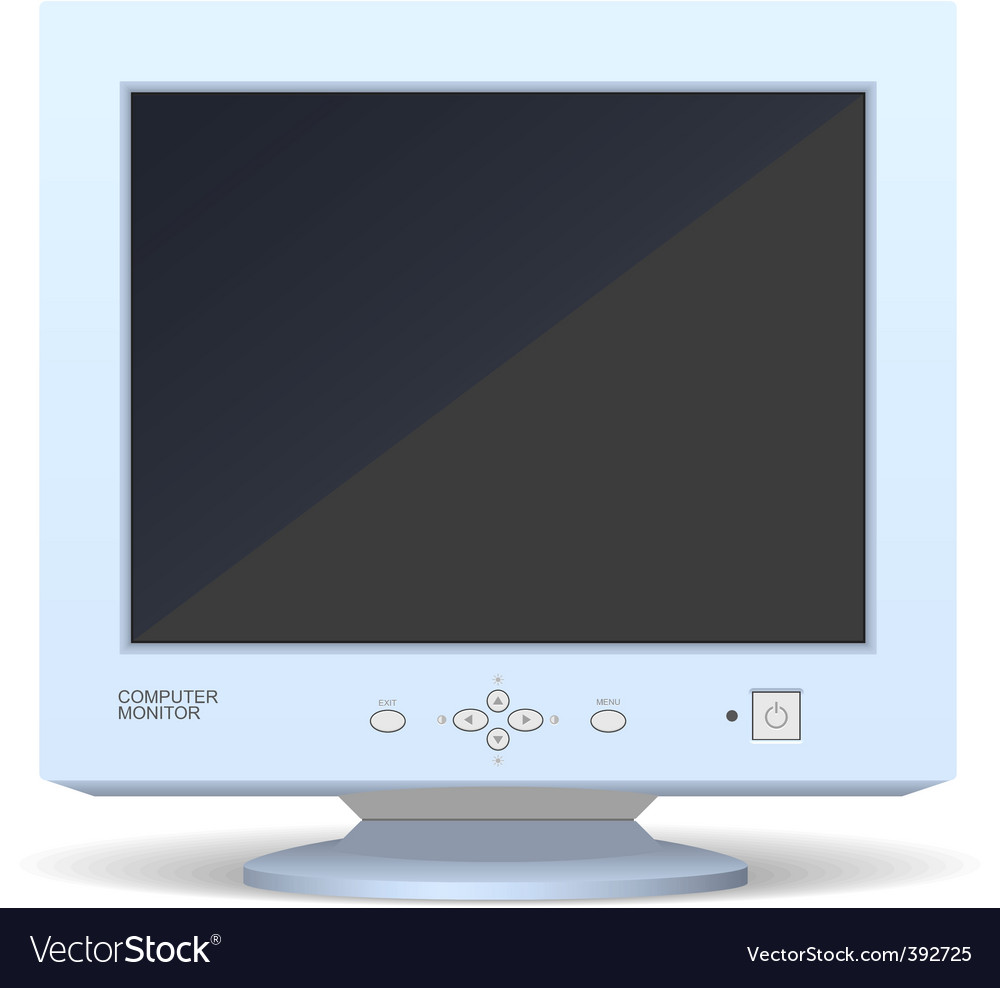 Old monitor vector image