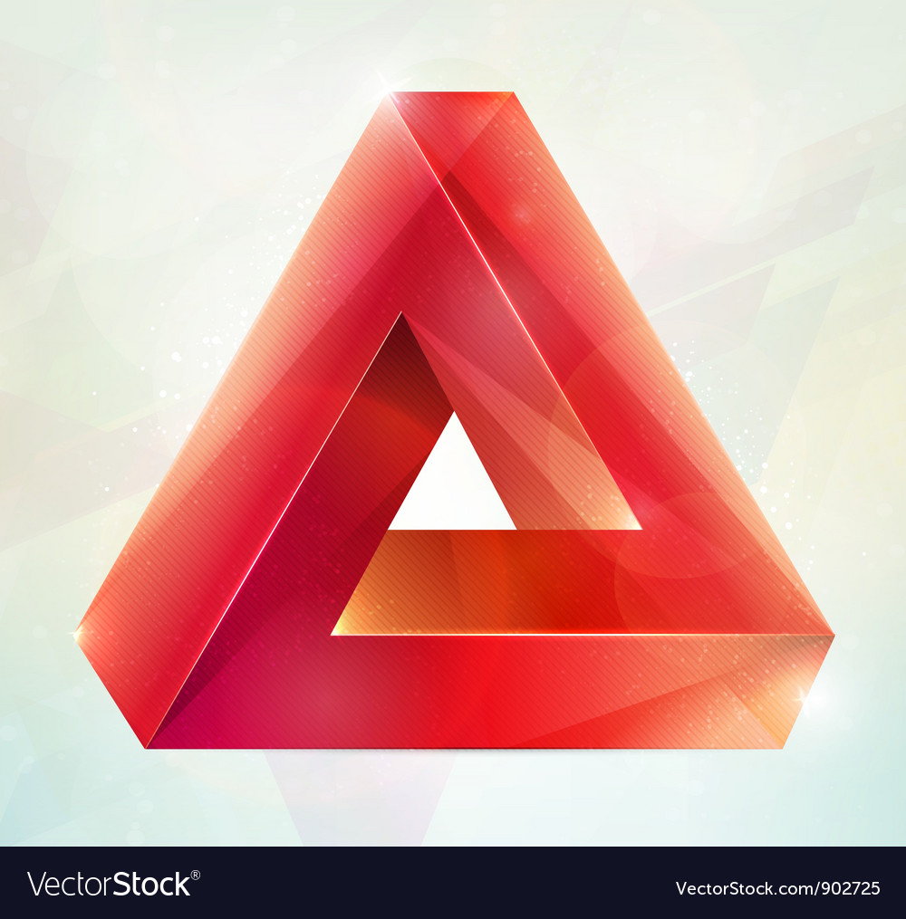 Impossible figure vector image