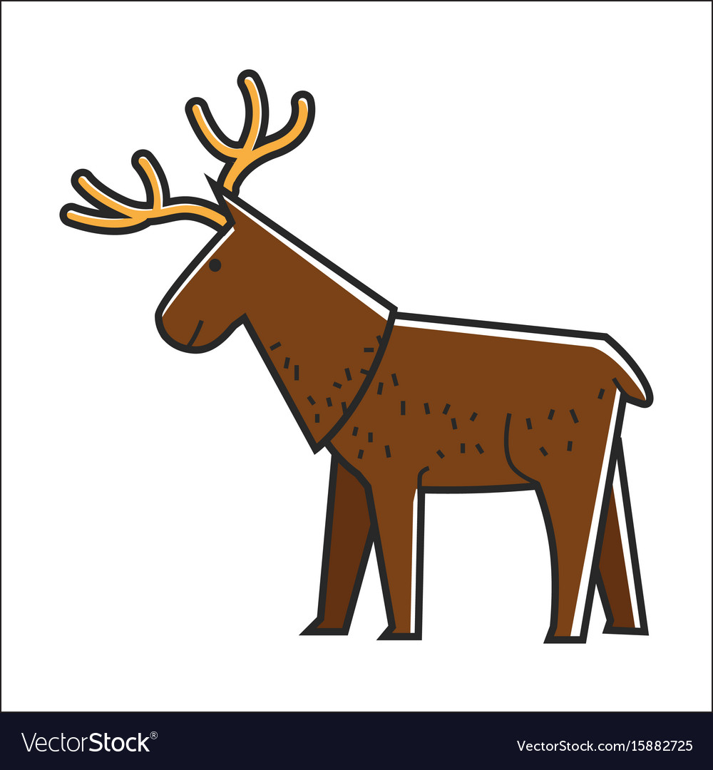 Canadian moose elk isolated canada vector image