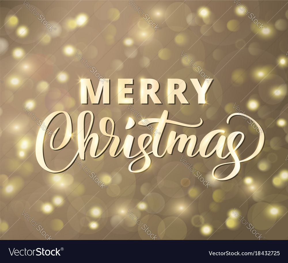 Merry christmas text holiday greetings quote vector image kristyandbryce Image collections