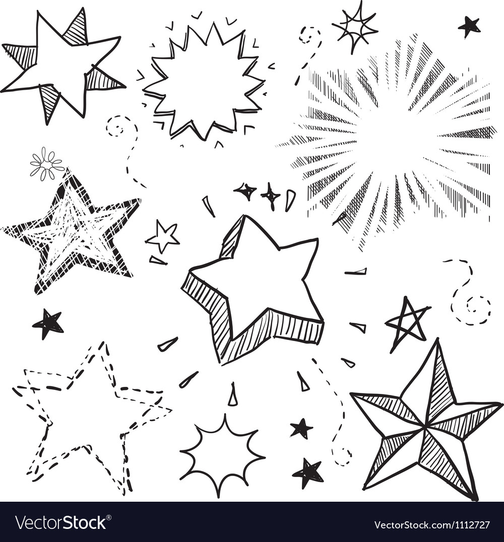 Doodle stars vector image