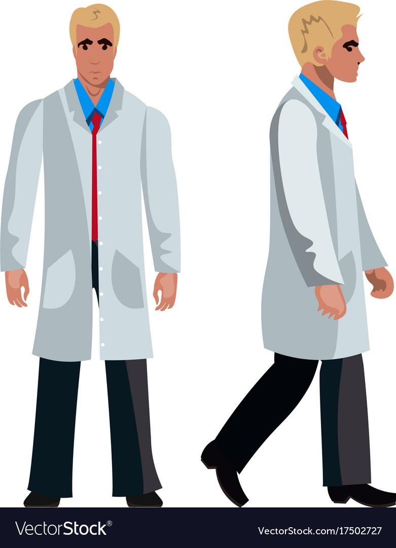 Doctor man character flat design vector image