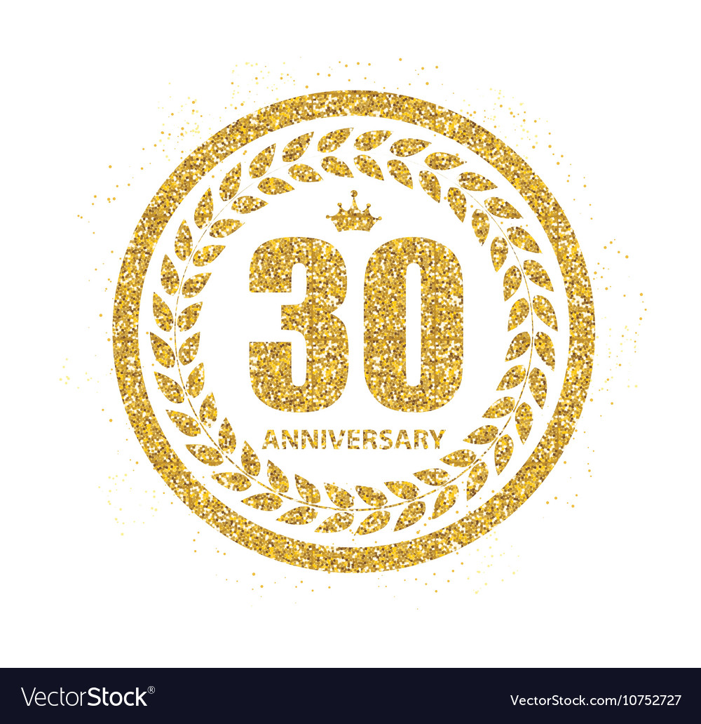 Template logo 30 years anniversary royalty free vector image template logo 30 years anniversary vector image biocorpaavc Images