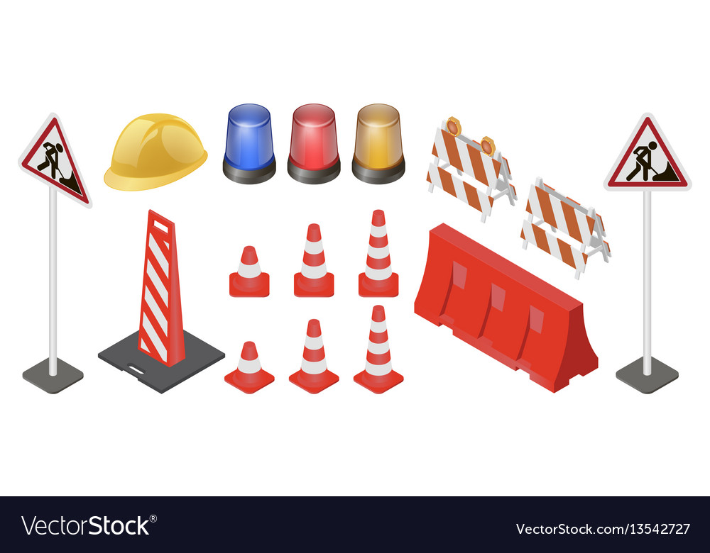 Under construction sign set vector image