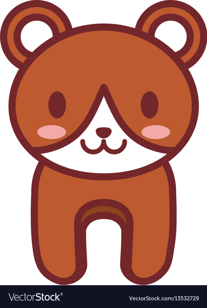 Cartoon brown bear animal image vector image