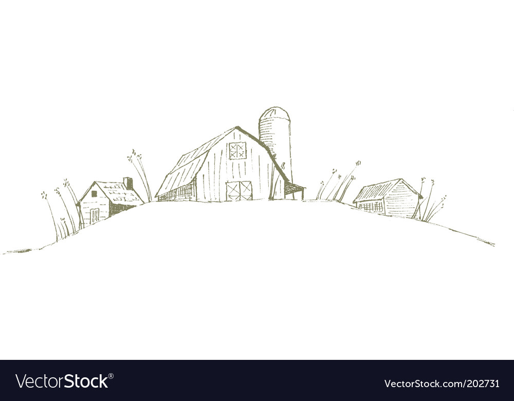 Old barn vector image