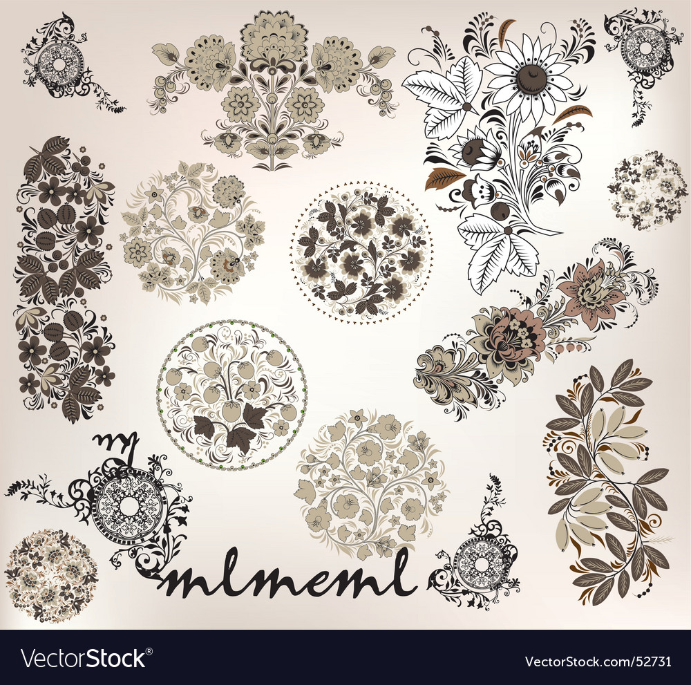 Compilation drawings vector image