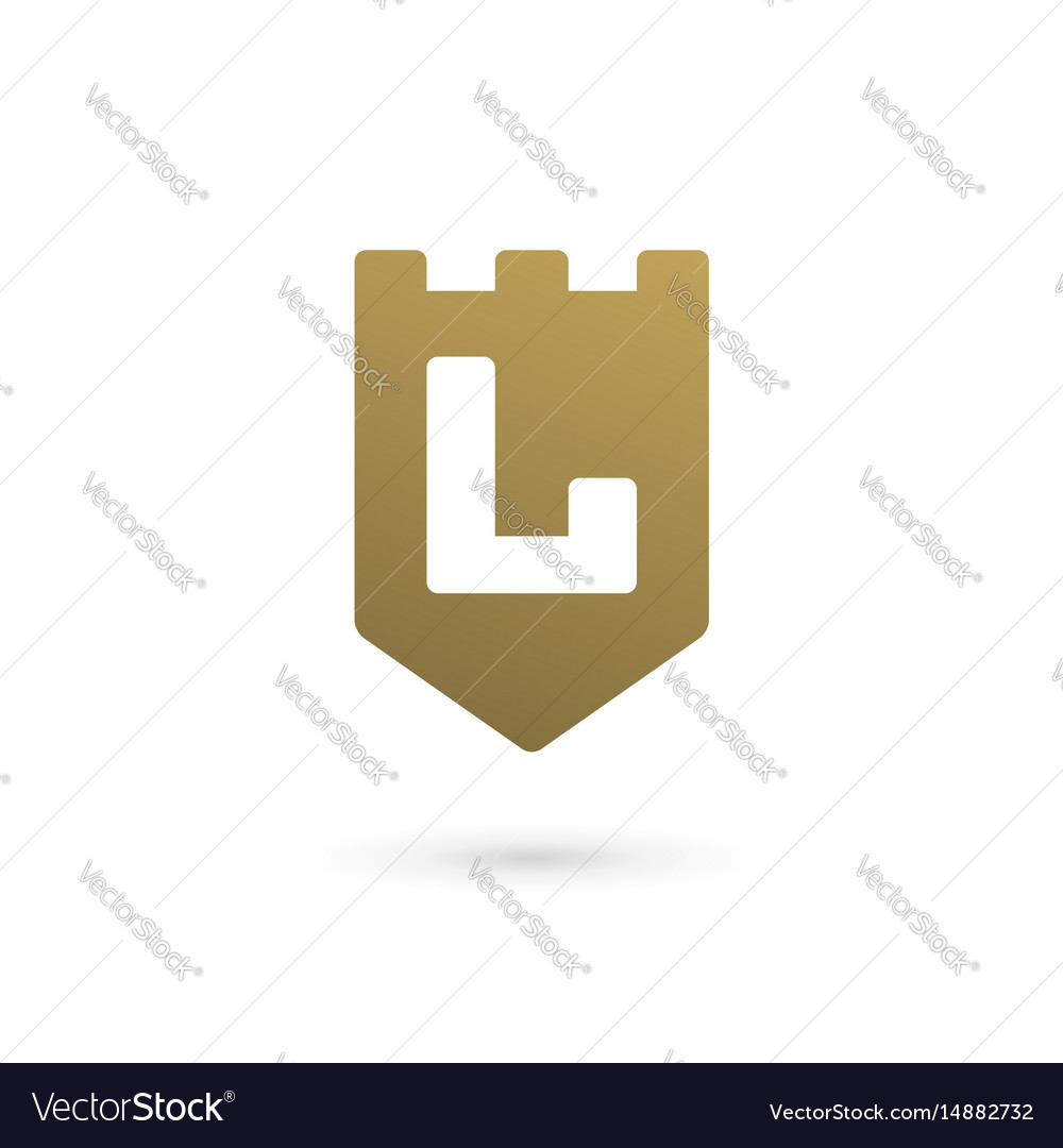 Letter l shield logo icon design template elements vector image