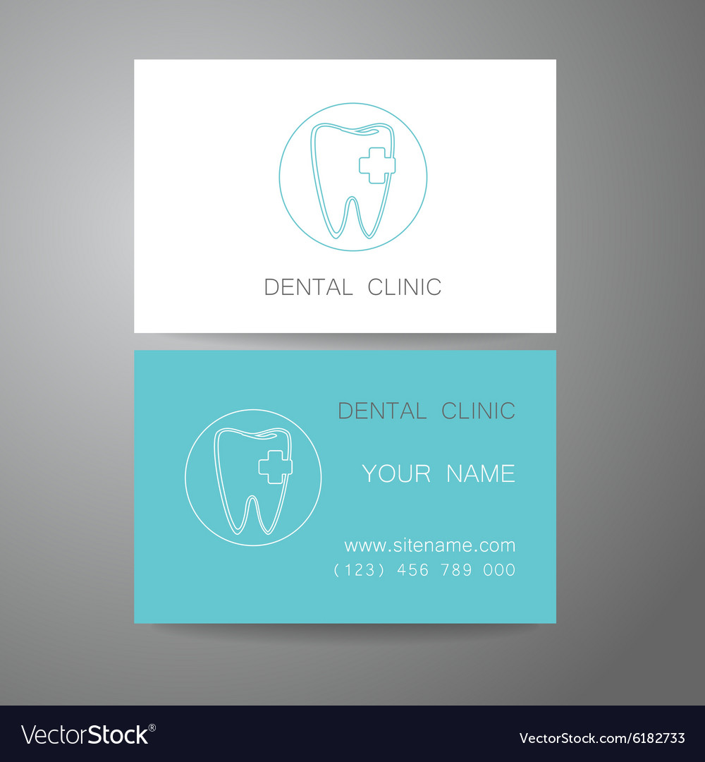 Dental clinic logo business card template vector image reheart Gallery
