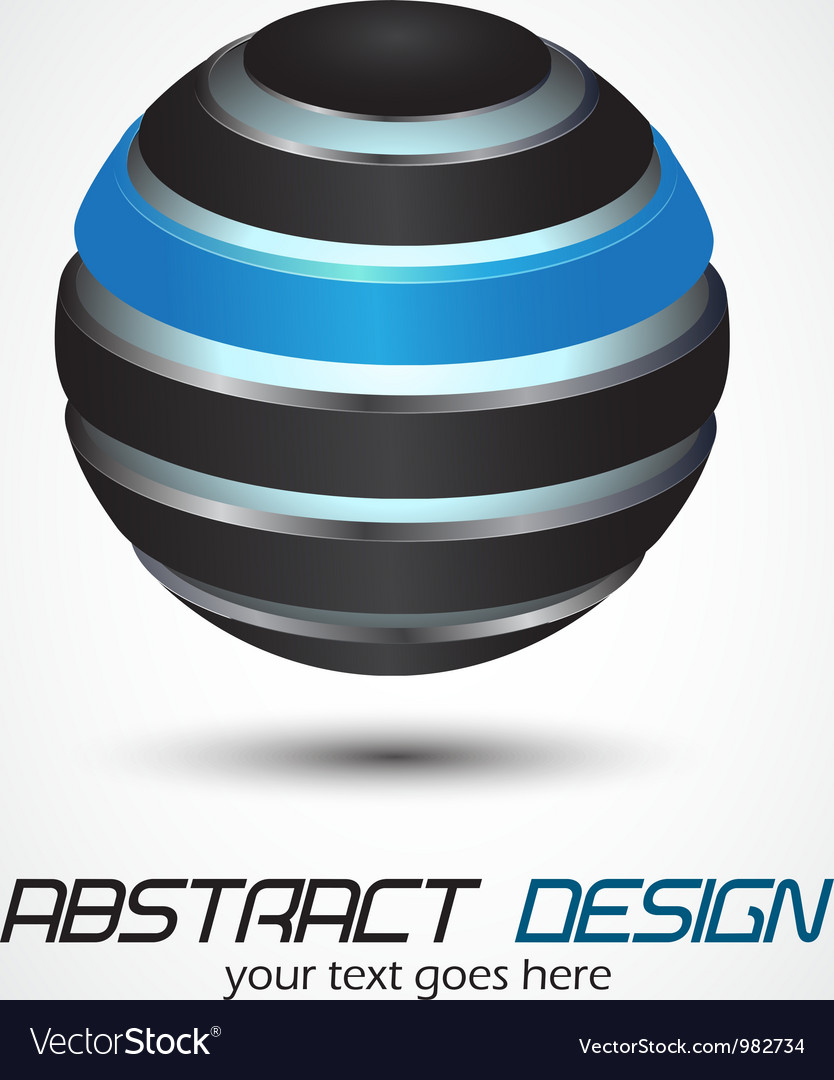 Metal sphere vector image