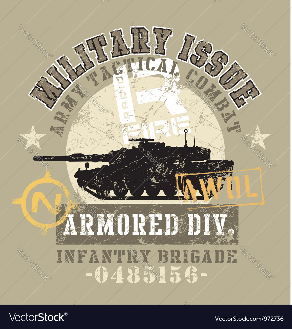 Military issue vector image