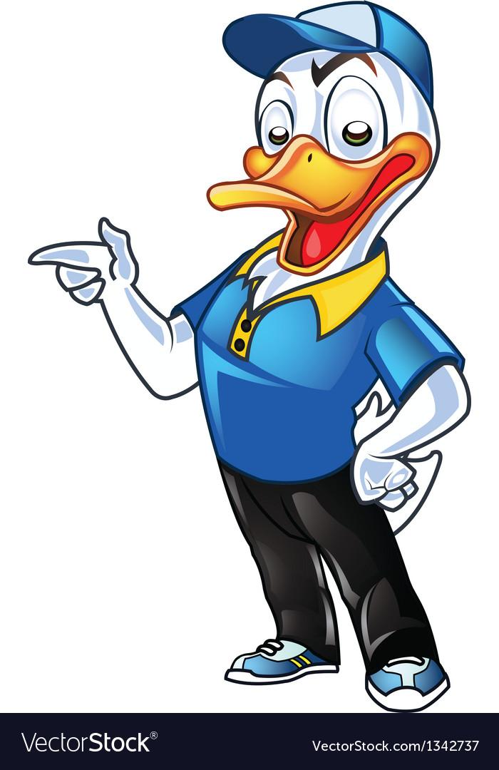 Employer Duck vector image