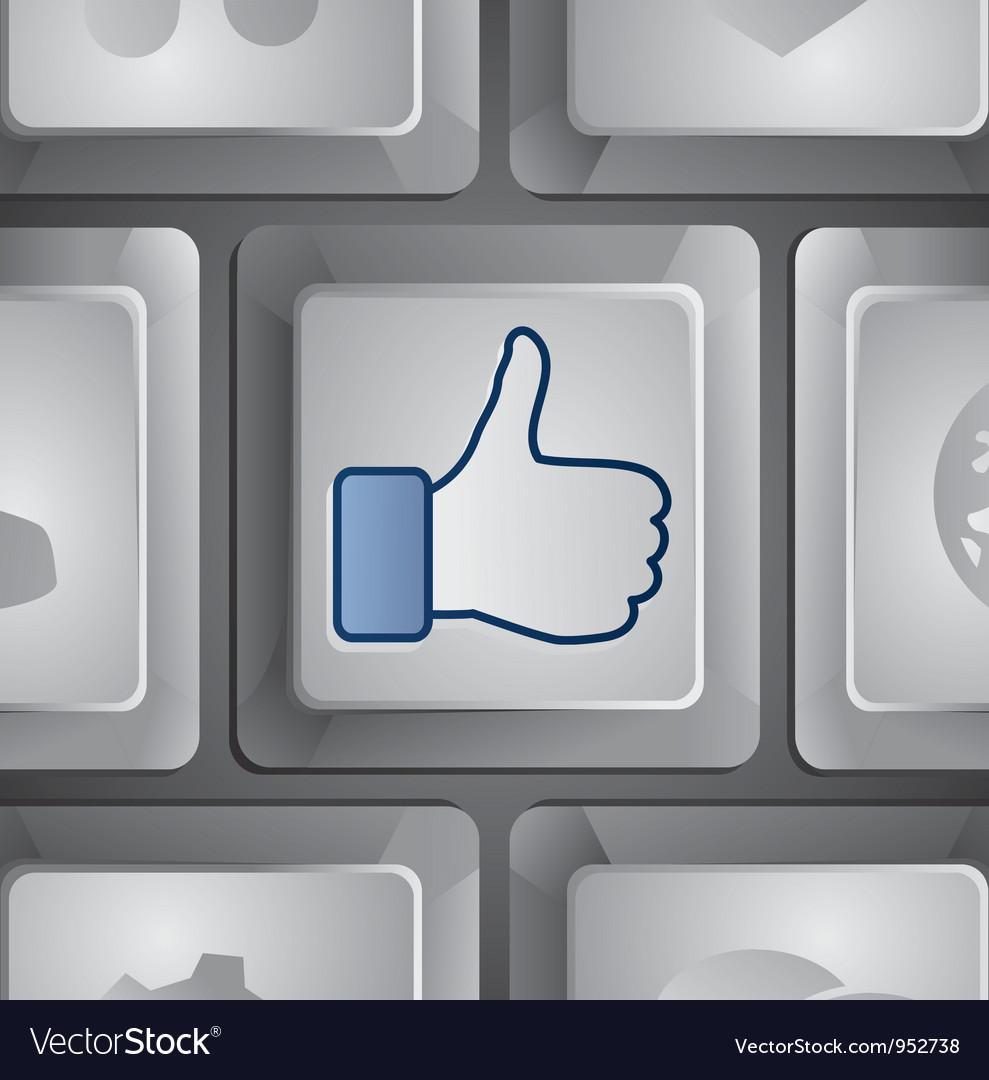 Like button - social media concept vector image