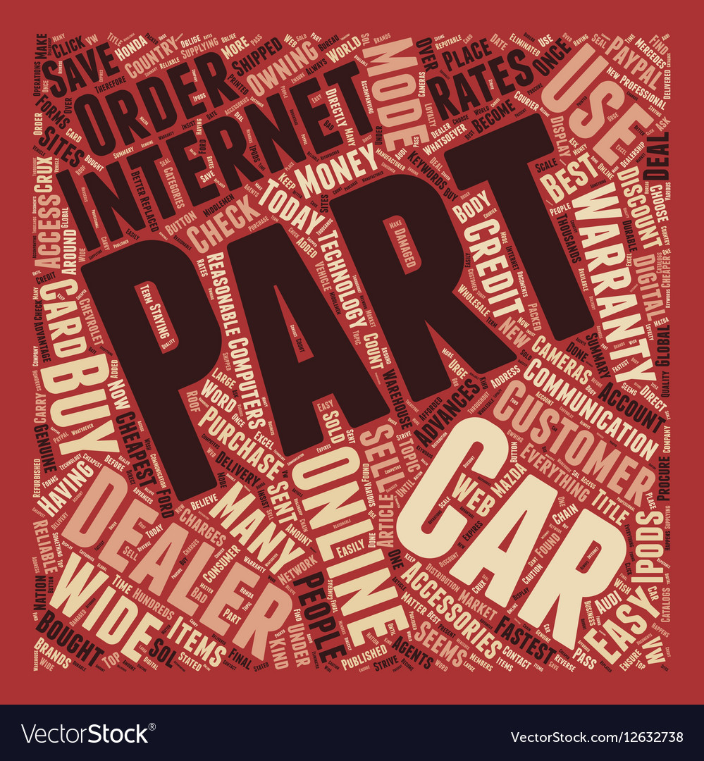 How To Buy Car Parts Online And Save Money text Vector Image
