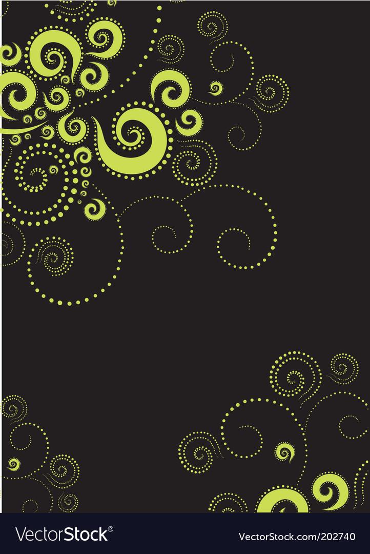 Background twirls vector image