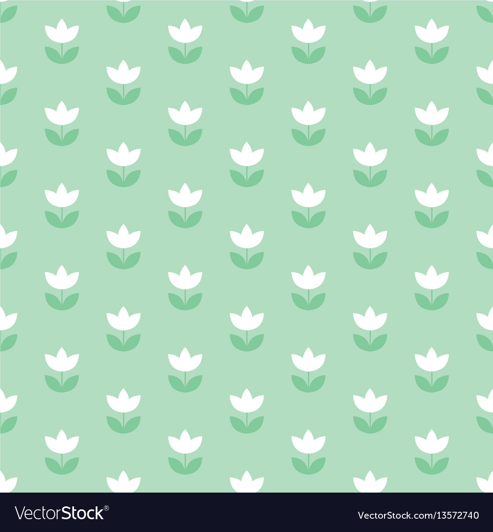 Pale color holland tulip repeatable motif simple vector image