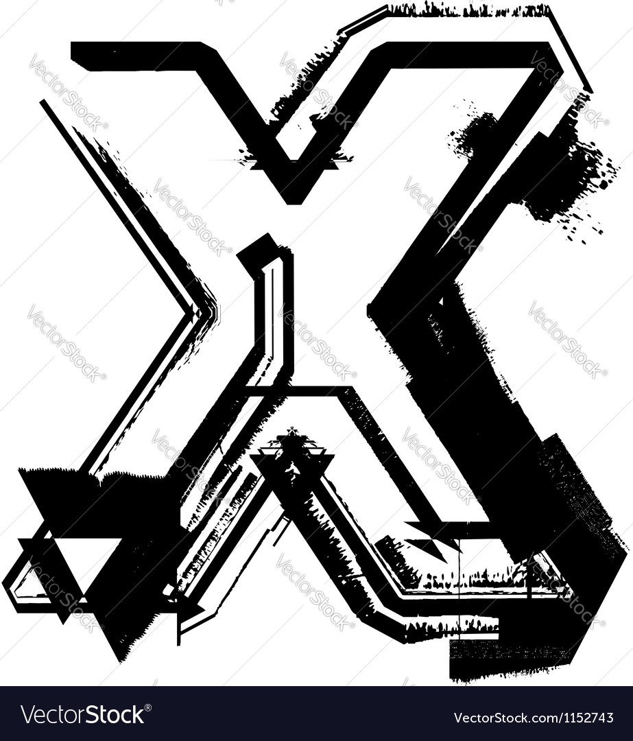 Grunge Font vector image