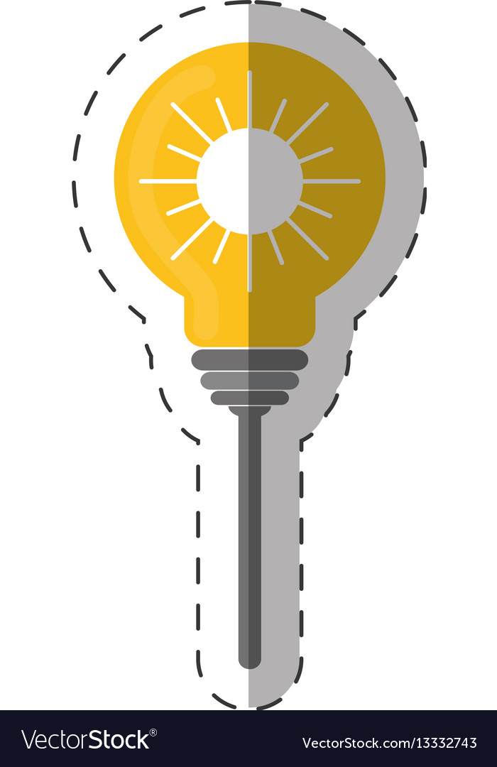 Environment bulb sun energy design vector image