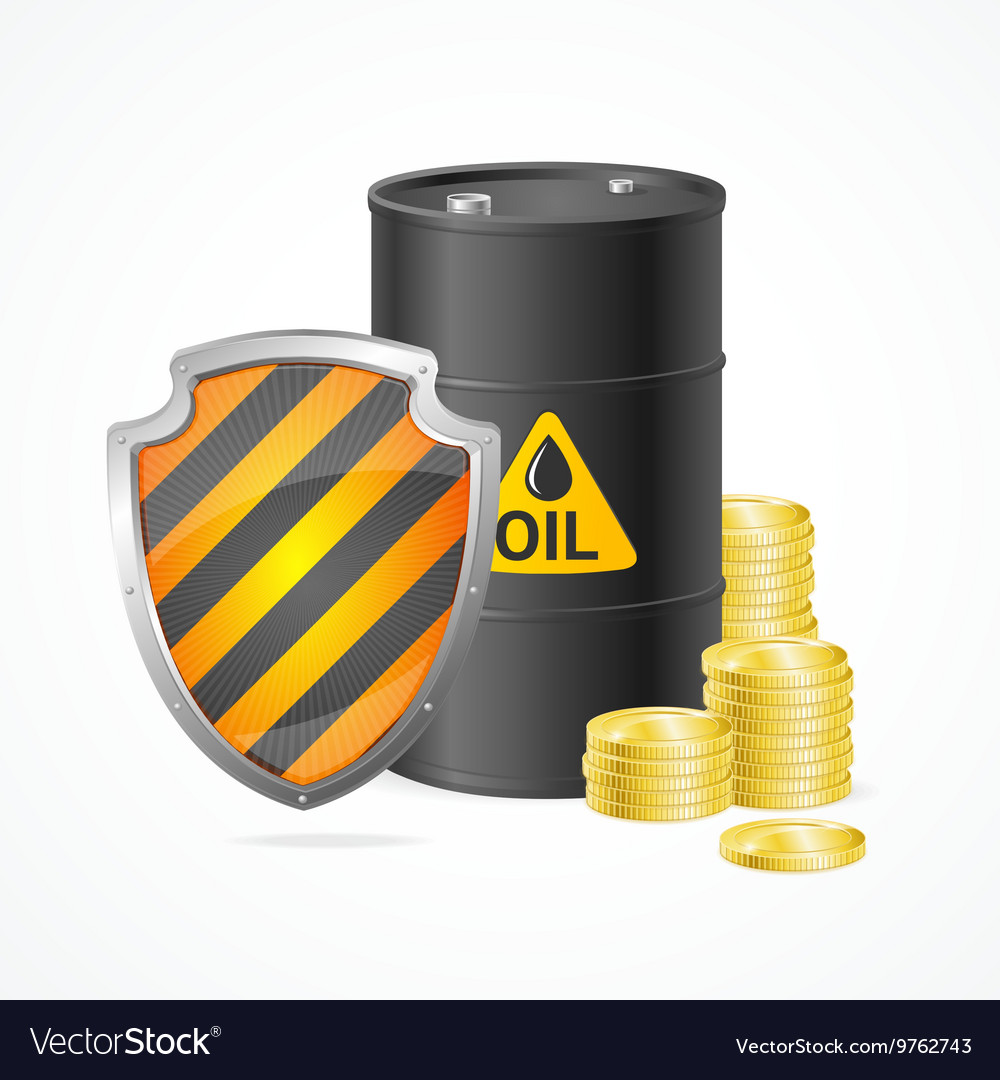 Oil Barrel Price Safety Concept vector image