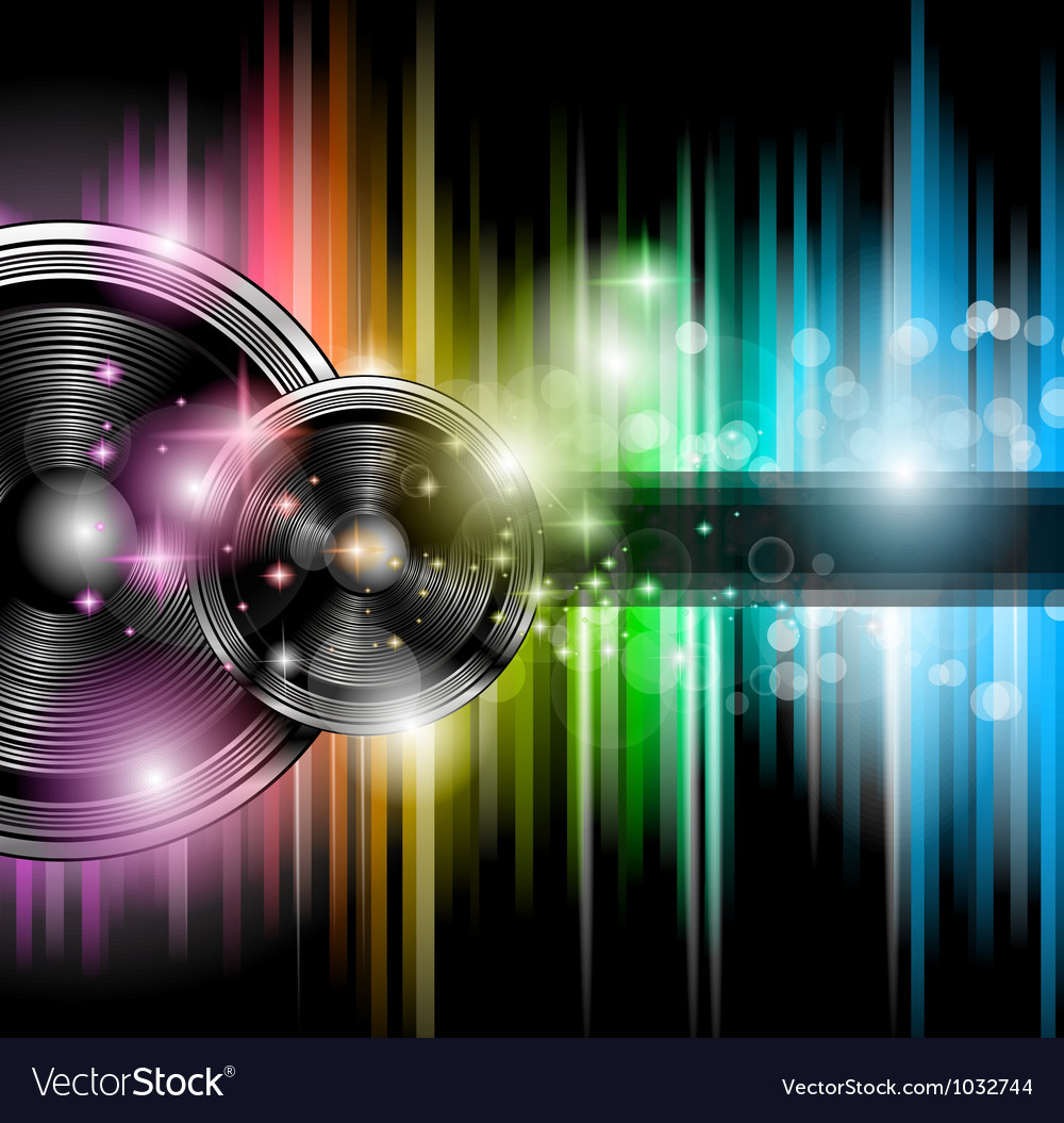 Disco club flyer vector image