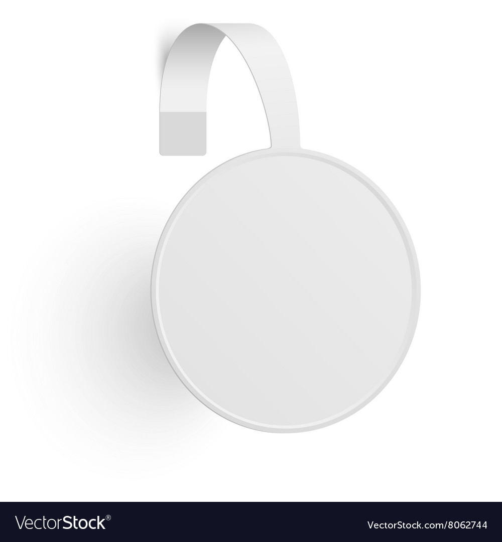 Advertising wobbler vector image