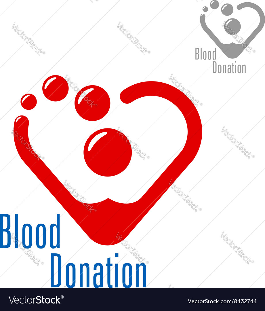Blood donation symbol with heart made of red drops blood donation symbol with heart made of red drops vector image buycottarizona