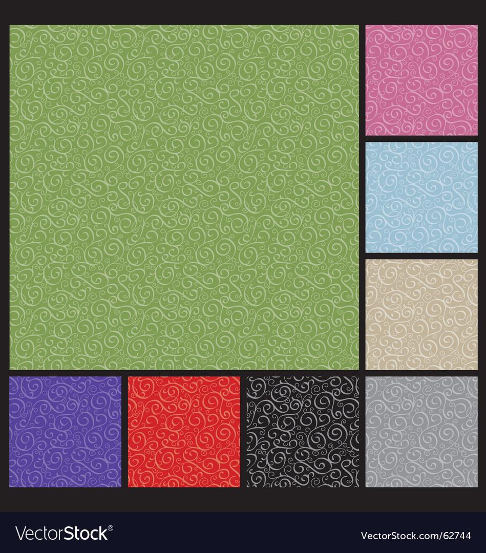 Pattern-curlicue vector image