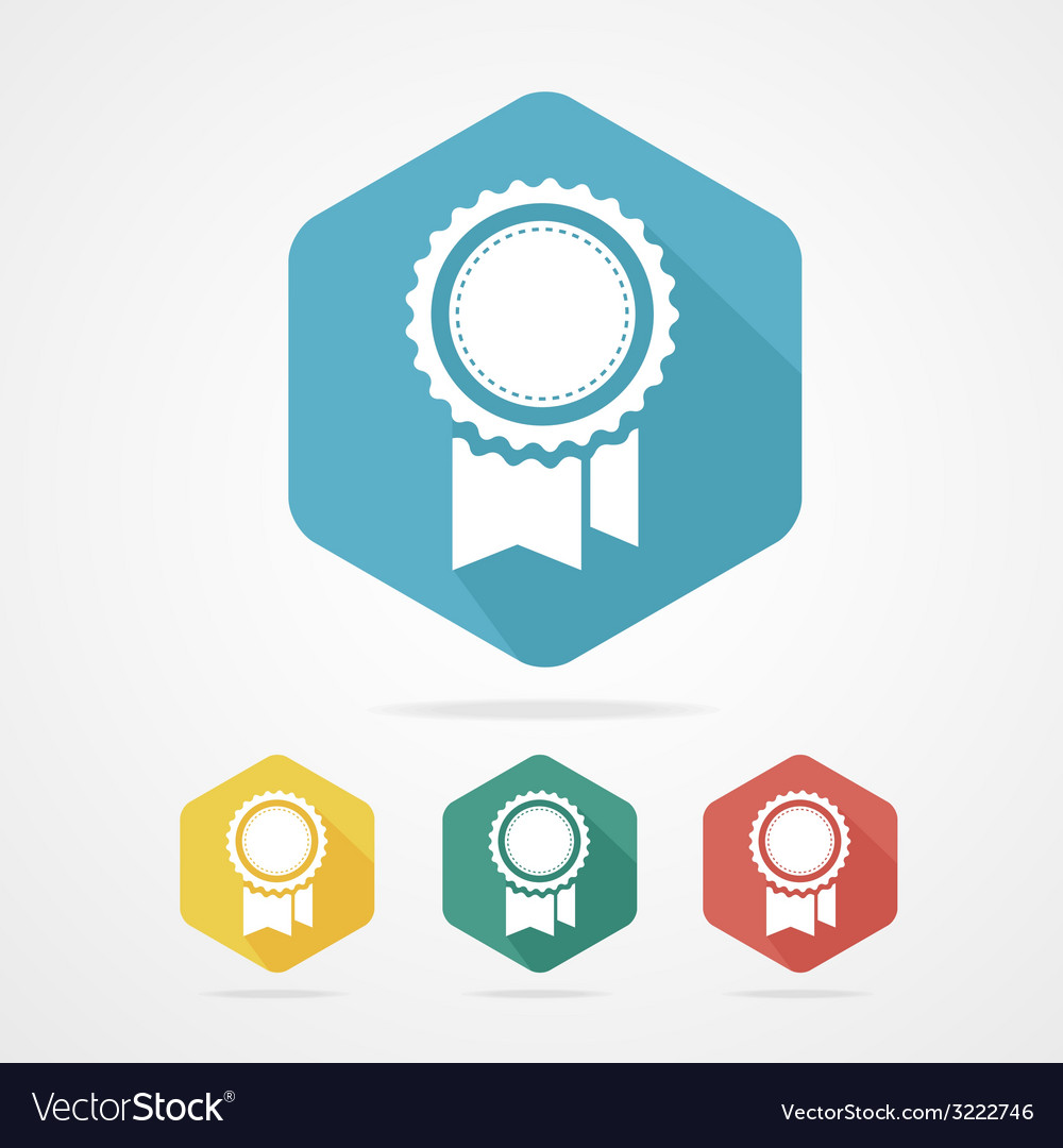 Award Icon flat style with long shadow vector image