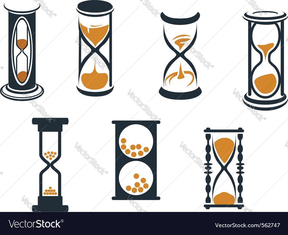Hourglass symbols vector image