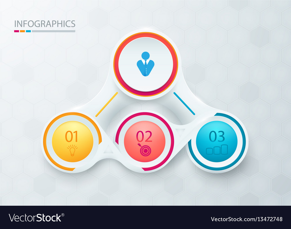Abstract elements for infographic template vector image