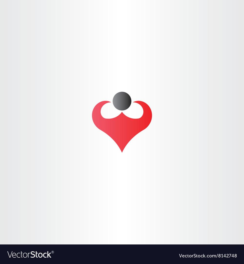 Body builder man logo icon sign symbol vector image
