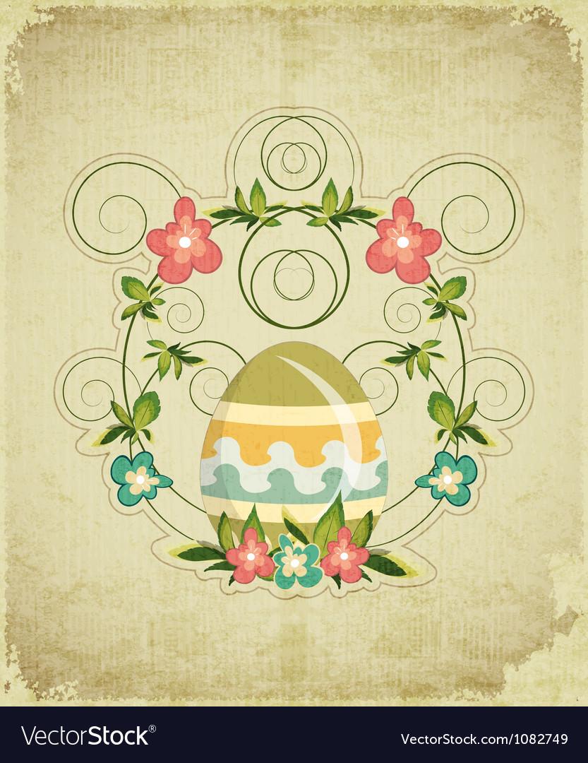 Vintage Easter Card vector image
