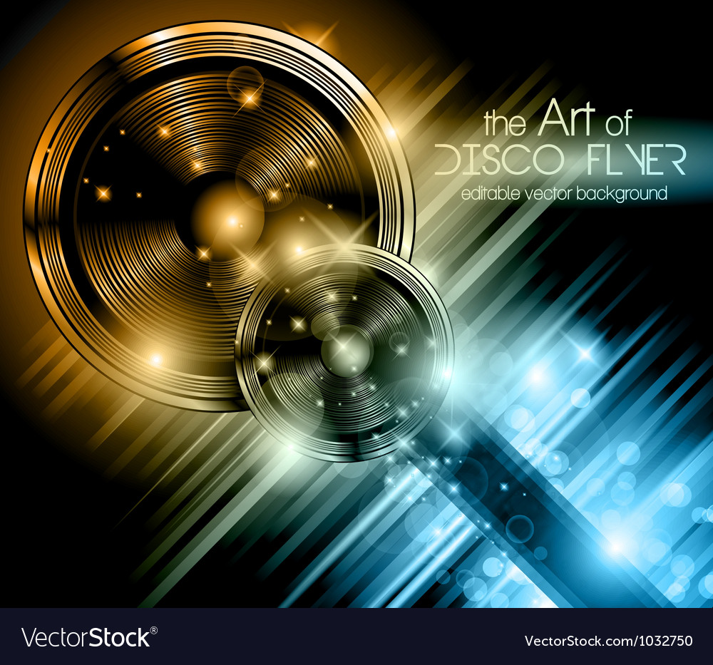 Disco Speakers Background vector image