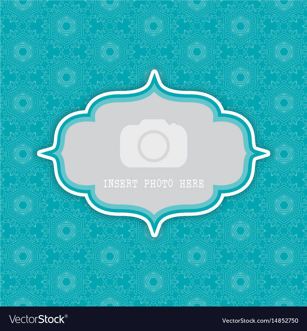 Decorative background with frame for photo 0803 vector image