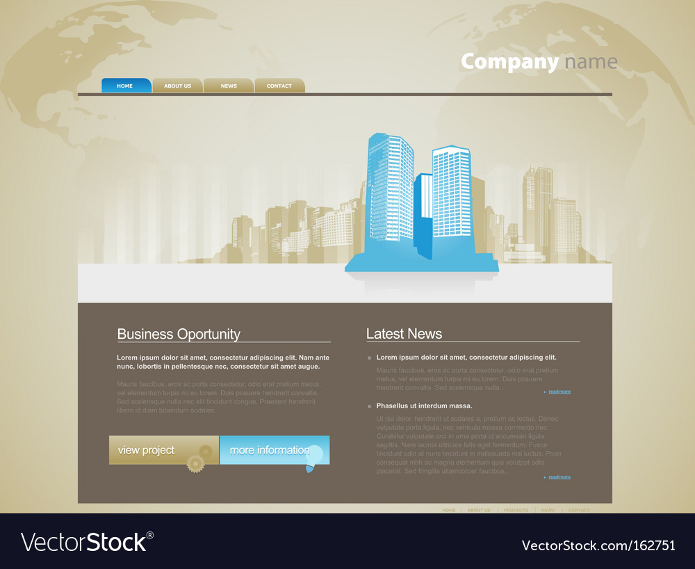 Website template with city vector image