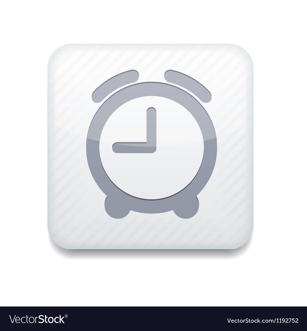 White clock icon Eps10 Easy to edit vector image